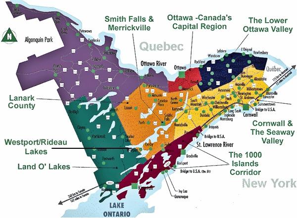 Eastern Ontario Map tdc's FarmGate Farm Markets Regional Map Eastern Ontario Map