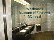 Washroom in the Museum of Fine Arts Montreal